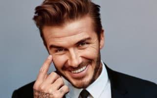 David Beckham happy