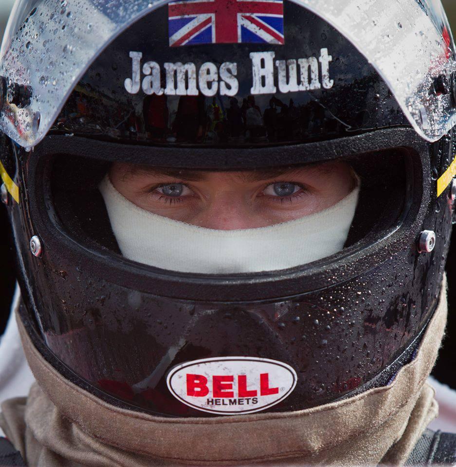 James Hunt wears Bell