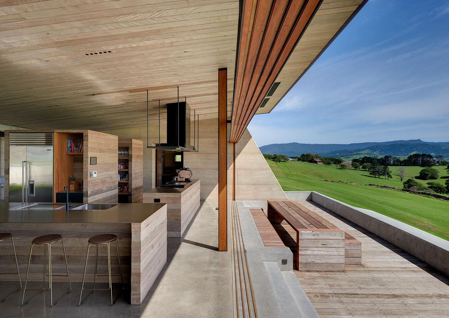 Concrete Kitchen by Fergus Scott Architects