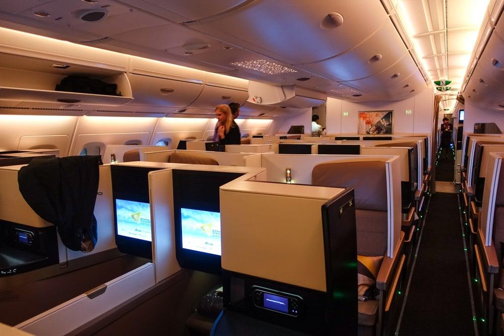 Etihad A380 Business Class Cabin