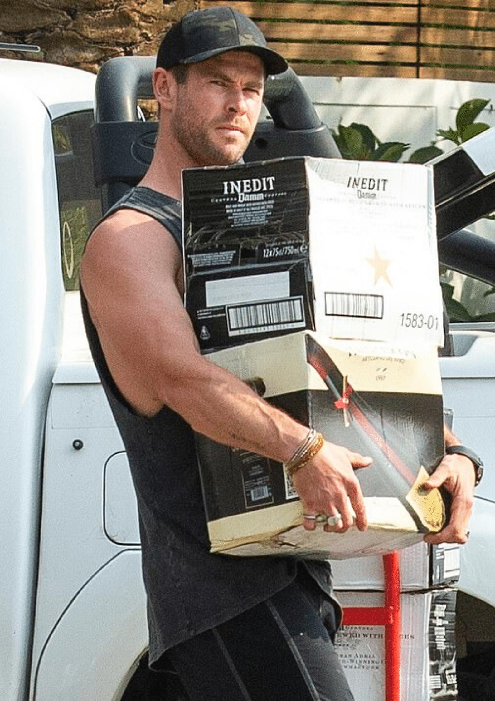 Chris Hemsworth beers