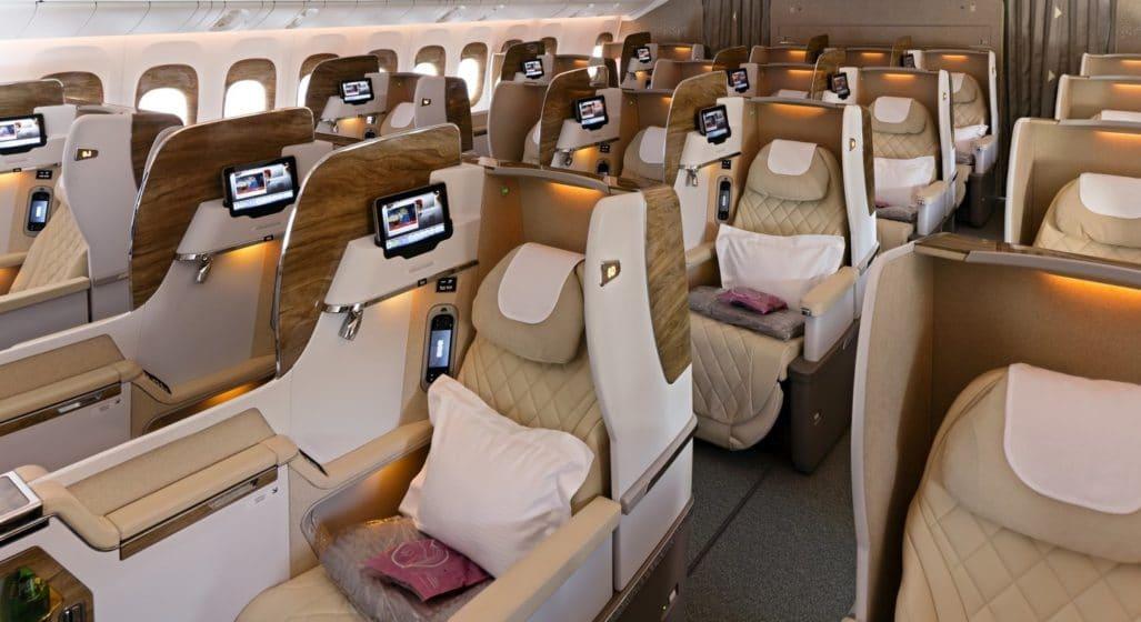 Emirates 777 Business Glass