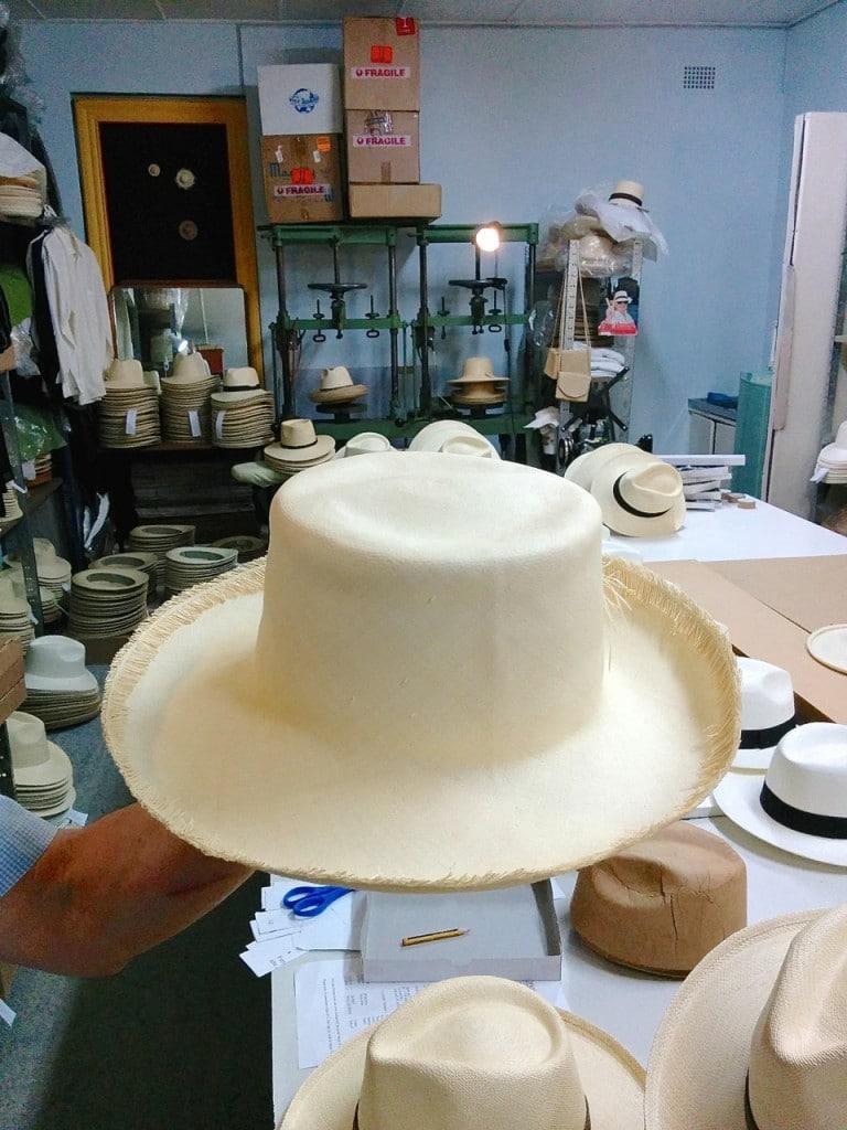 A naked Panama Hat