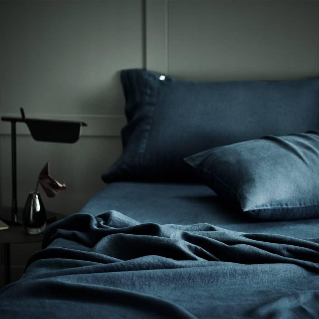 Blue Grey Washed Eco Lithuanian Linen Highest Grade Duvet Cover
