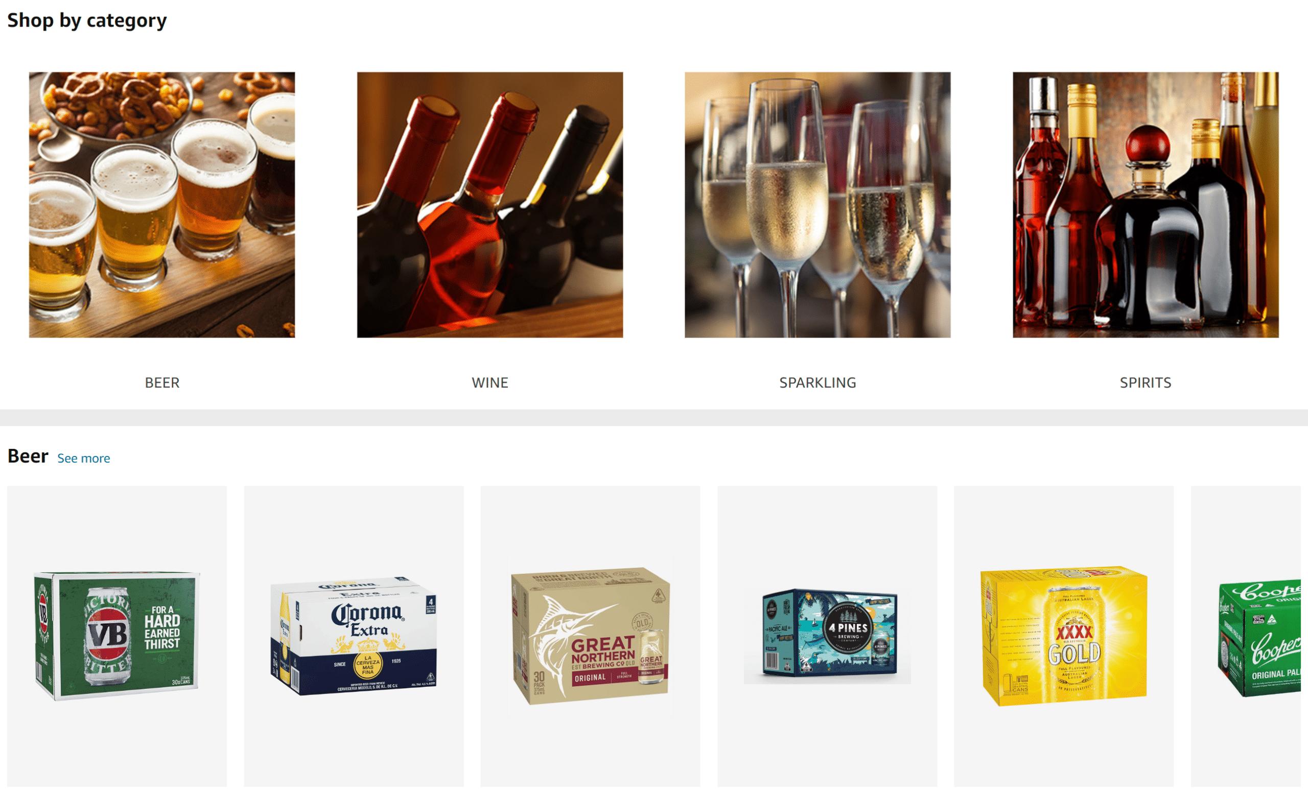 Amazon Australia alcohol delivery