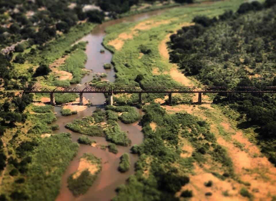 Bridge overlooking South African scenery