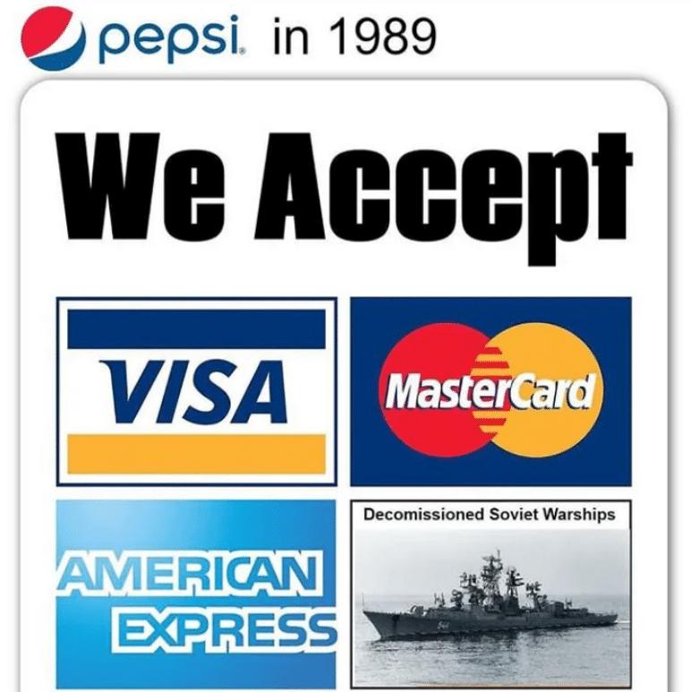 Pepsi Warships deal