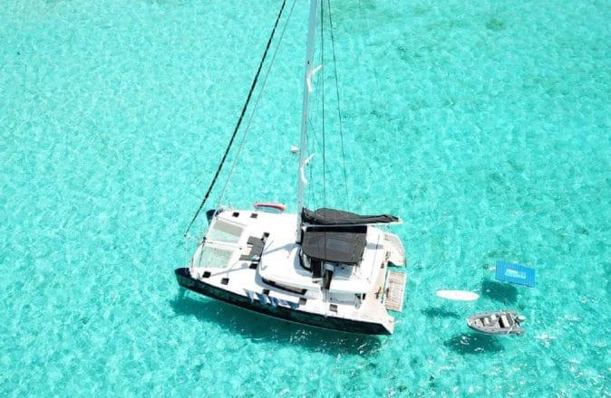 denison yachting catamaran bitcoin