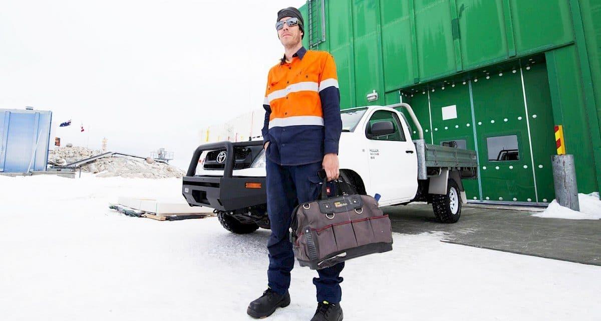 Carpenter in Antarctica