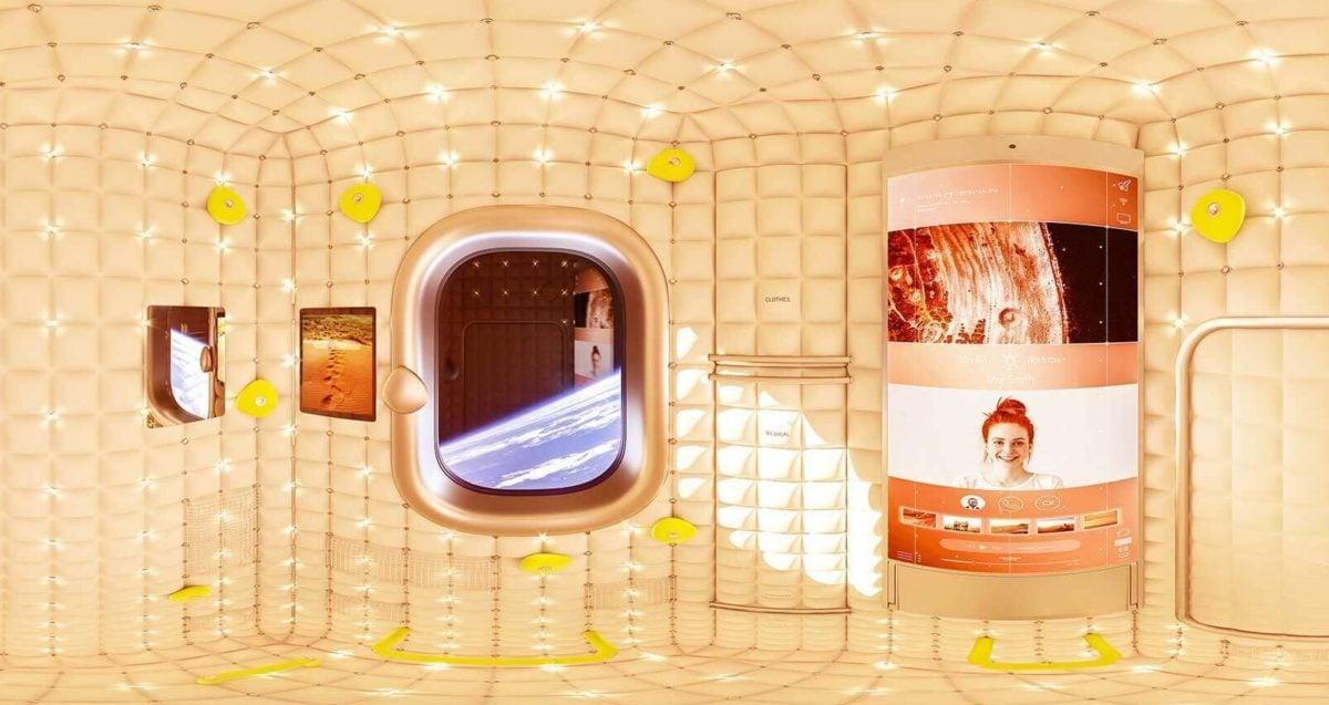 axiom space hotel - philippe starck module interior design