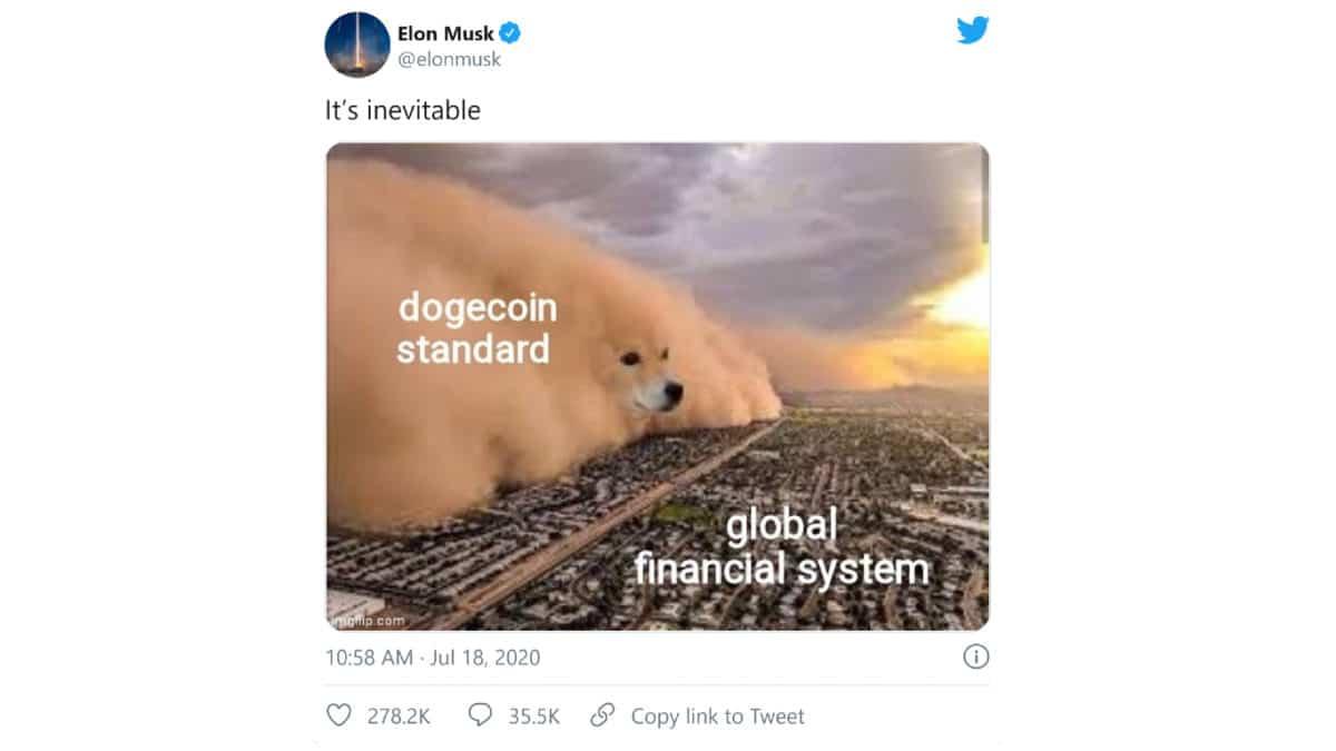 DogeCOIN market cap Elon Musk Meme Cryptocurrency