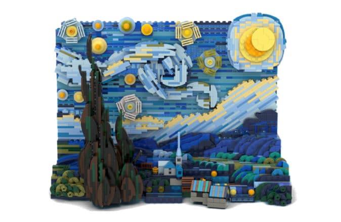 LEGO Vincent van Gogh Starry Night building set by Truman Cheng