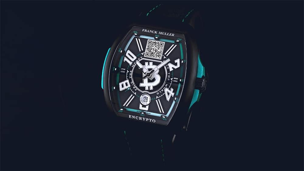 Franck Muller Bitcoin watch front