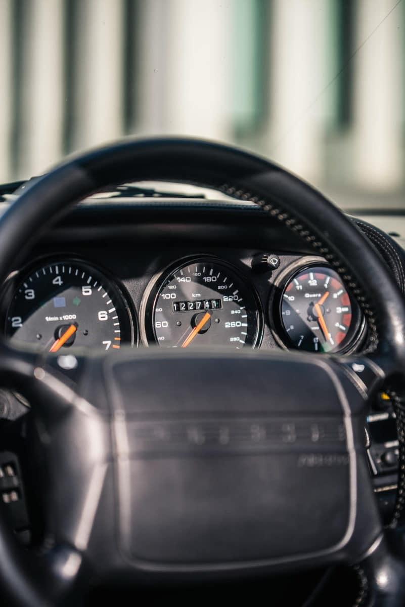 Inside Diego Maradona's rare Porsche 911.