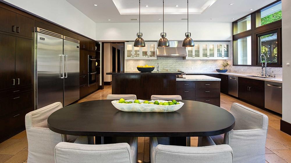Matt Damon mansion kitchen.