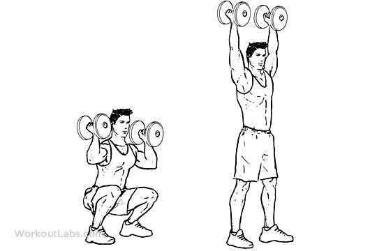 Best Shoulder Exercises For Men - dumbbell push press