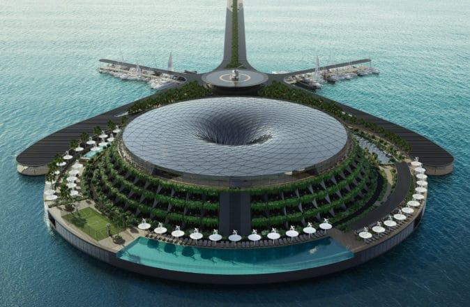 qatar eco-floating hotel