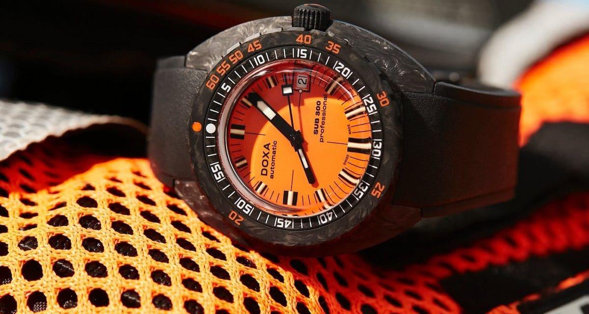 Doxa SUB 300 Carbon COSC collection orange