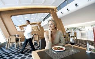 Qantas first class lounge new zealand trans tasman flights