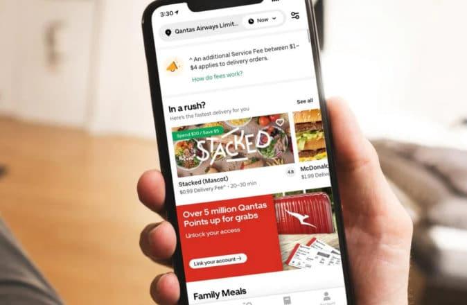 Uber Eats Qantas Points 5 Million