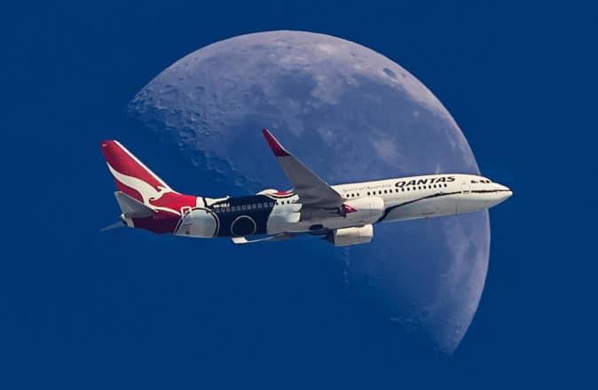 Qantas Moon Flight Supermoon Scenic
