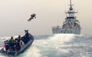 Royal Marines Jet Suit HMS Tamar