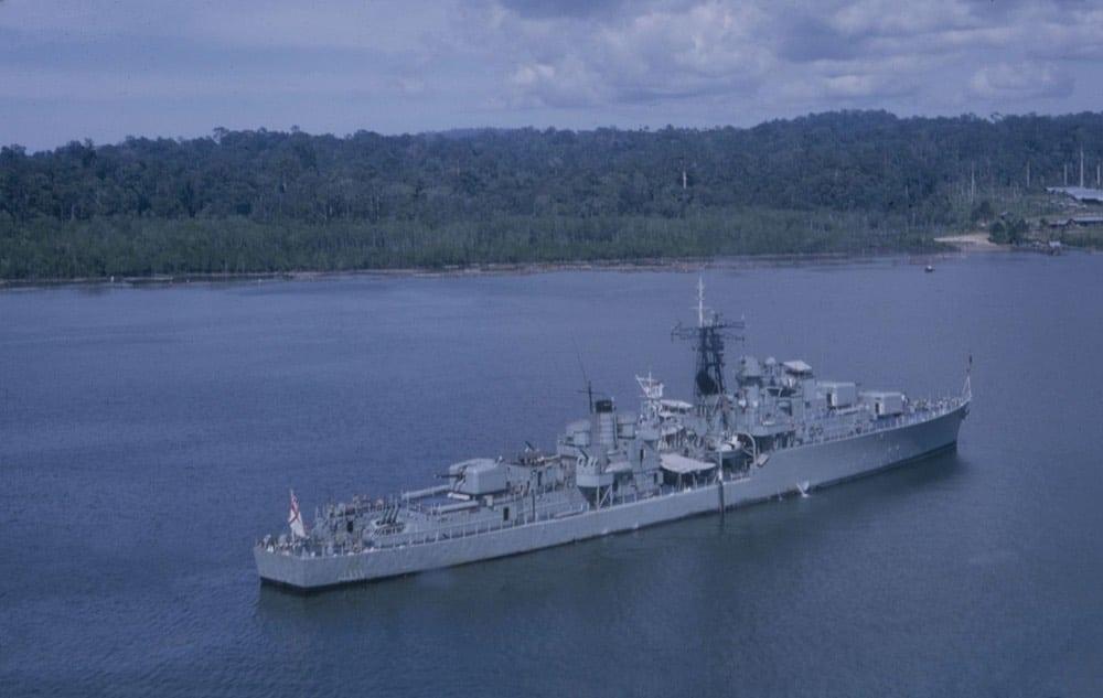 HMAS Vampire has been transformed by event series Audamus.
