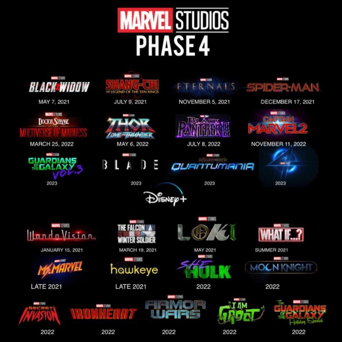 marvel studios phase 4 teaser release dates australia