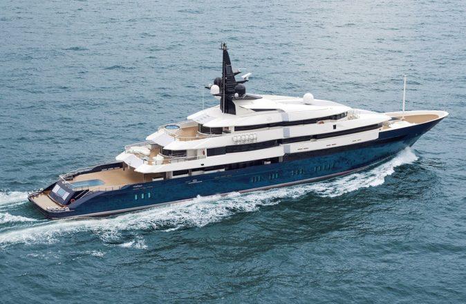 steven spielberg superyacht from above