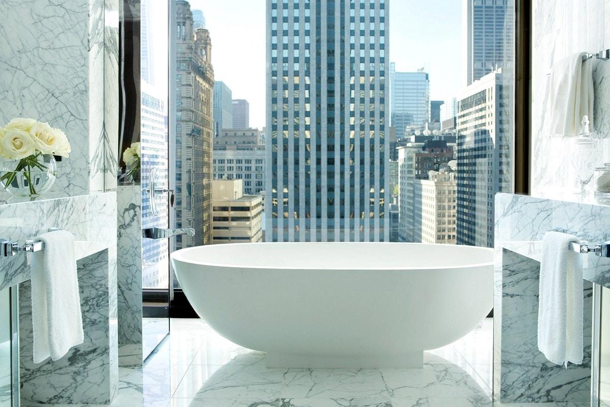 best hotel bathrooms - chicago