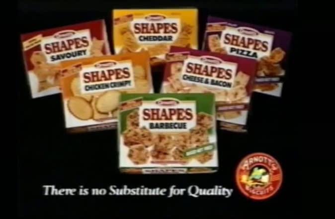 90s snacks australia shapes