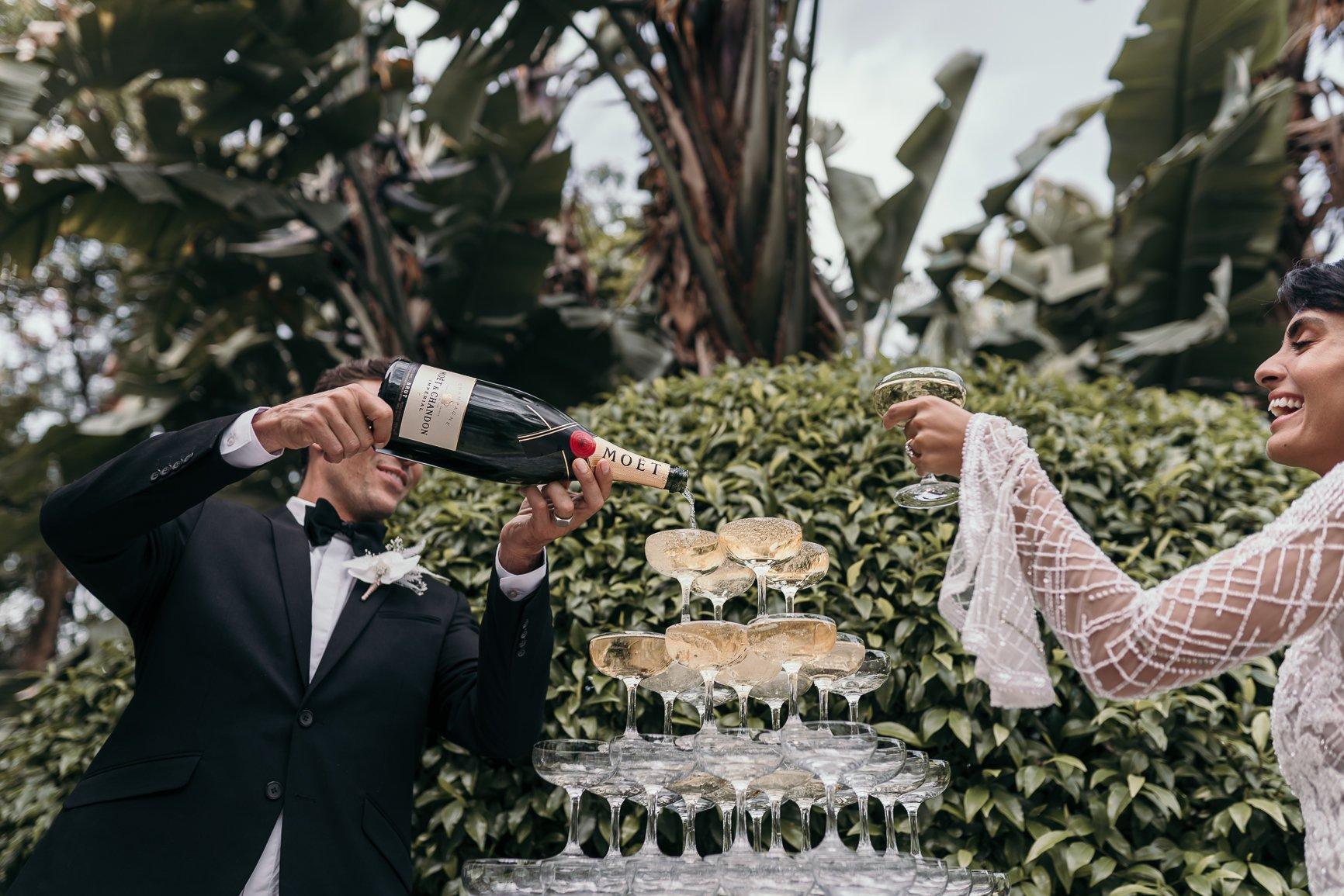 Moet Champagne Pyramid