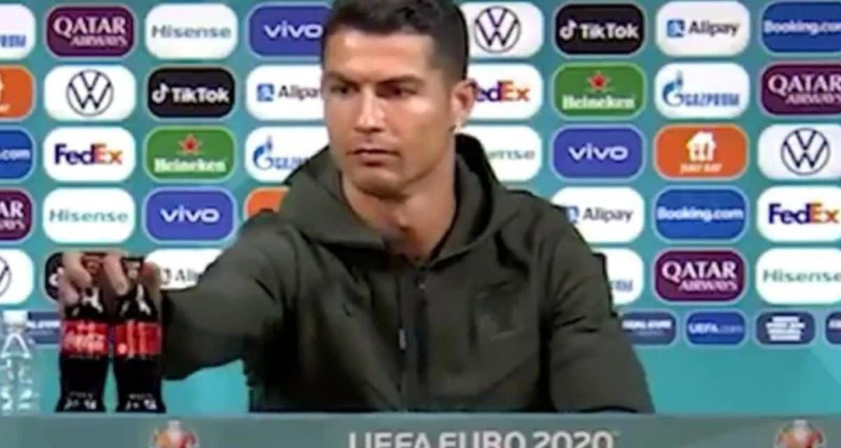 Euros 2020 Cristiano Ronaldo Coca Cola Water