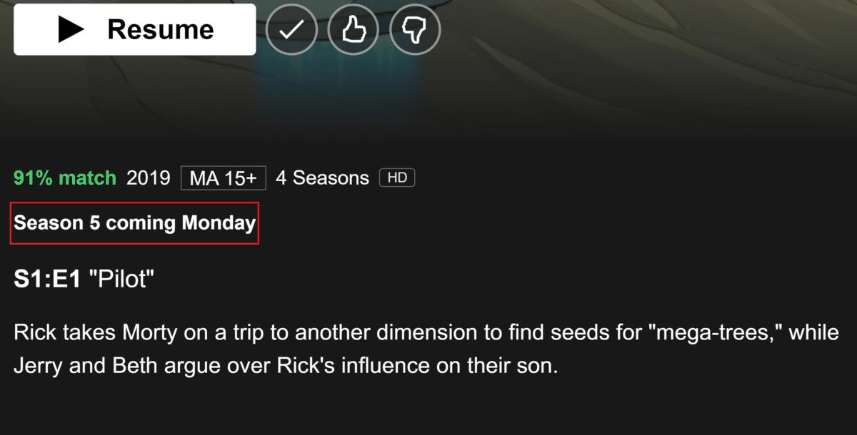 rick and morty season 5 australia