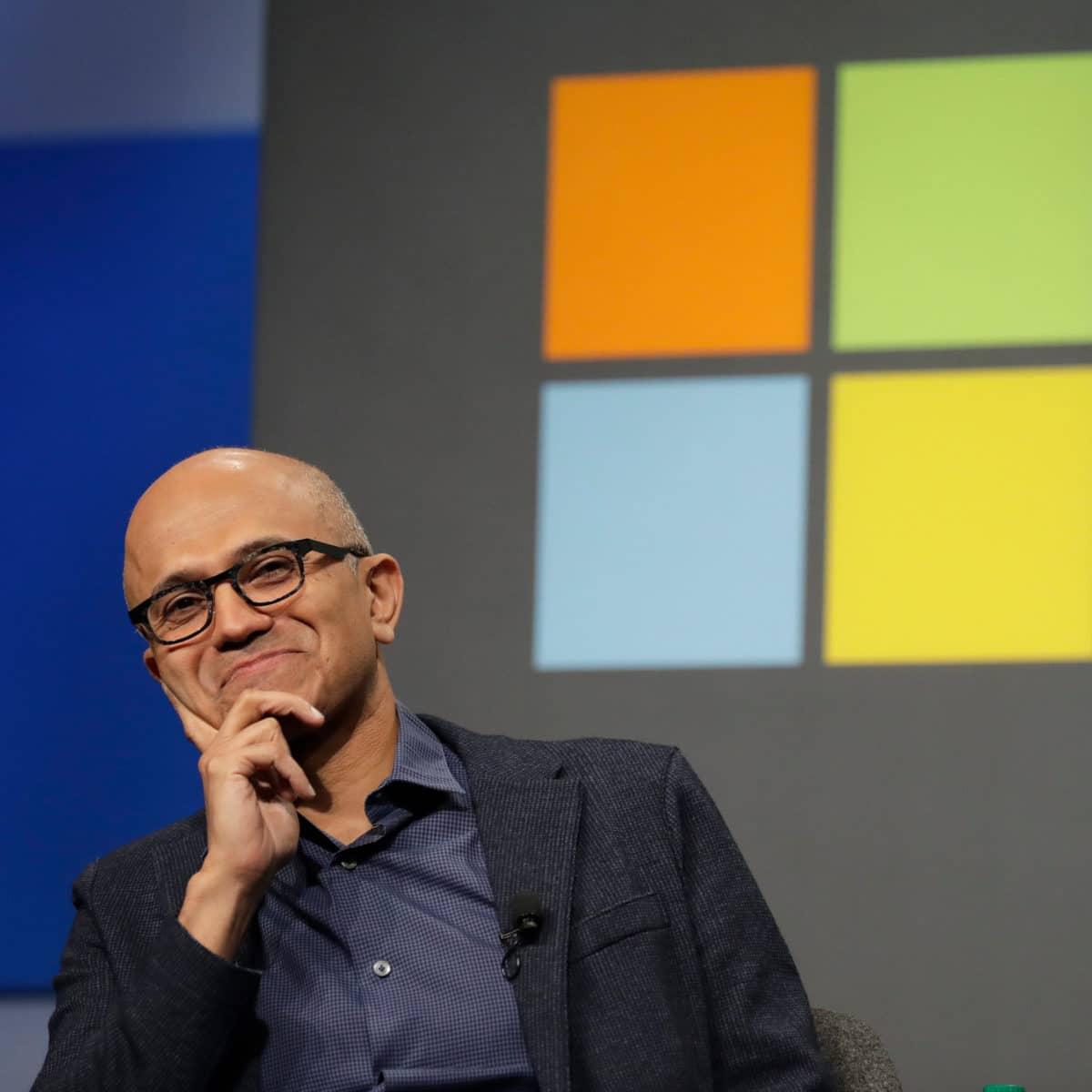 Microsoft market cap - satya nadella