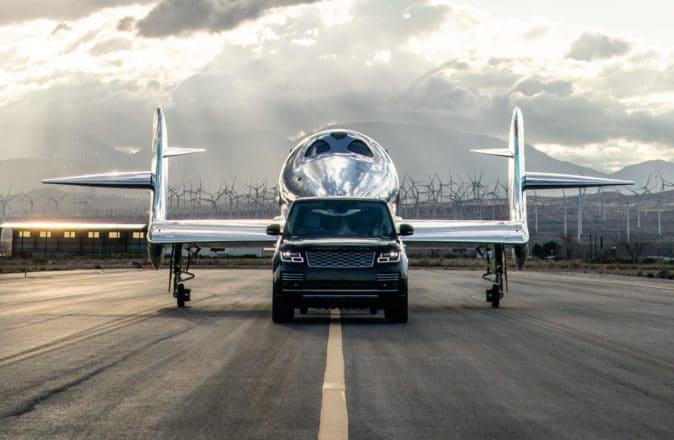 Range Rover Astronaut with Virgin Galactics VSS Imagine