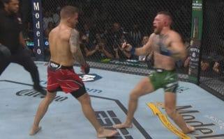 UFC 264 Conor McGregor Dustin Poirier III Broken Leg