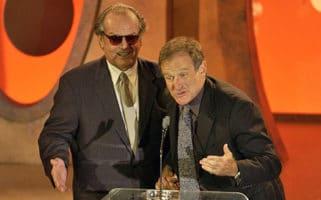 jack nicholson robin williams critics choice awards speech high