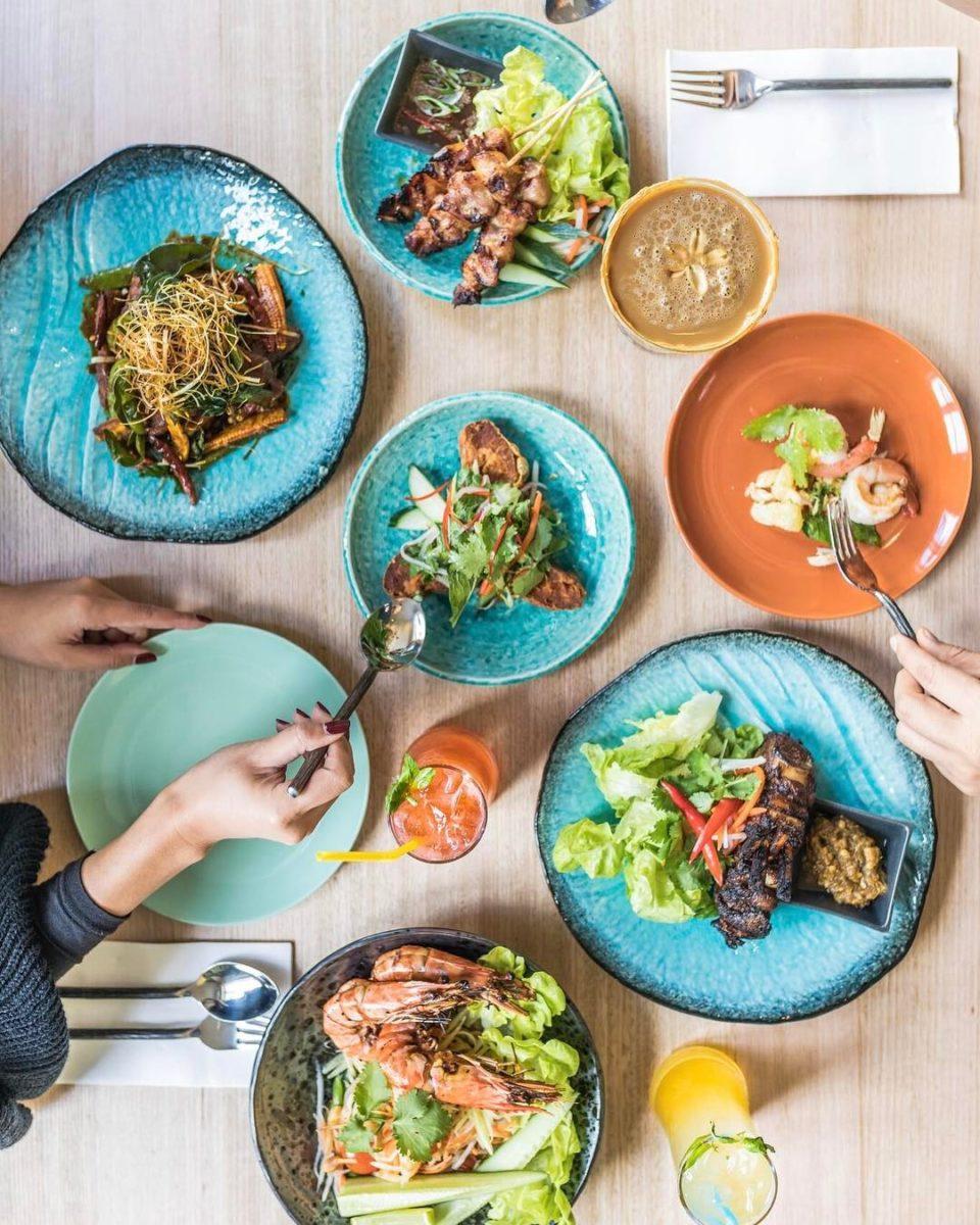 A spread of Thai food at Thai Thani in Fitzroy.