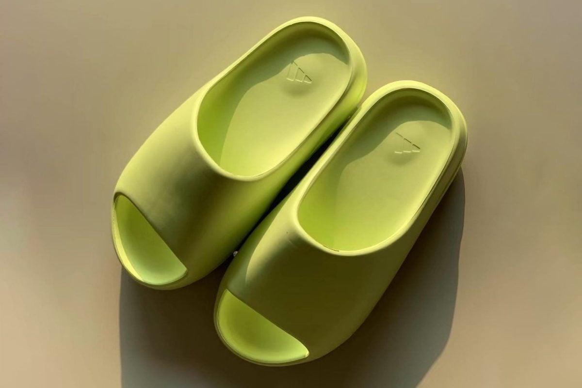 Adidas YEEZY Slide Glow Green2
