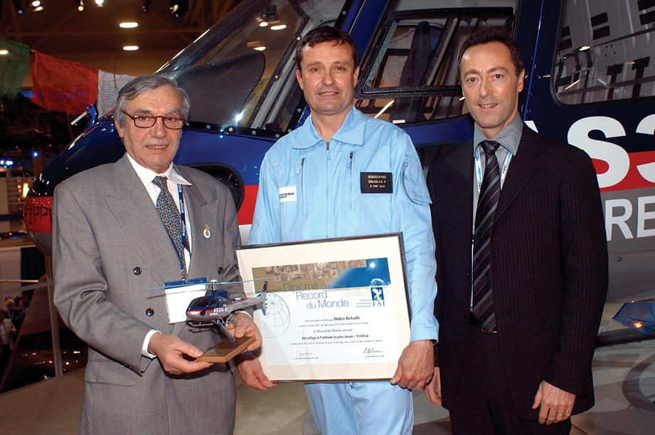 DELSALLE Didier recieves FAI Record certificate