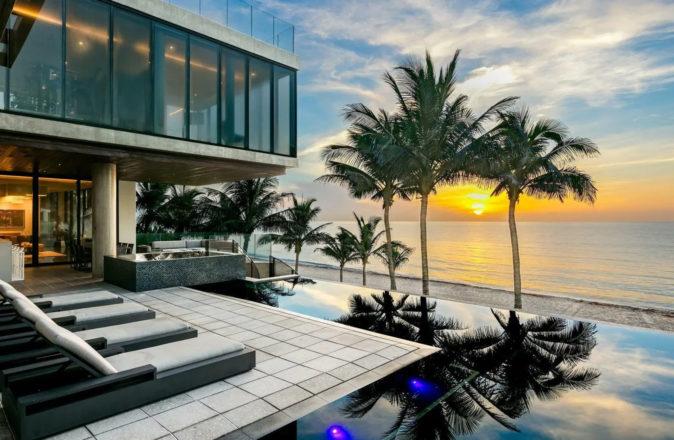 Highland Beach mansion 3715 S Ocean Boulevard Boca Raton Modern Scarface Mansion