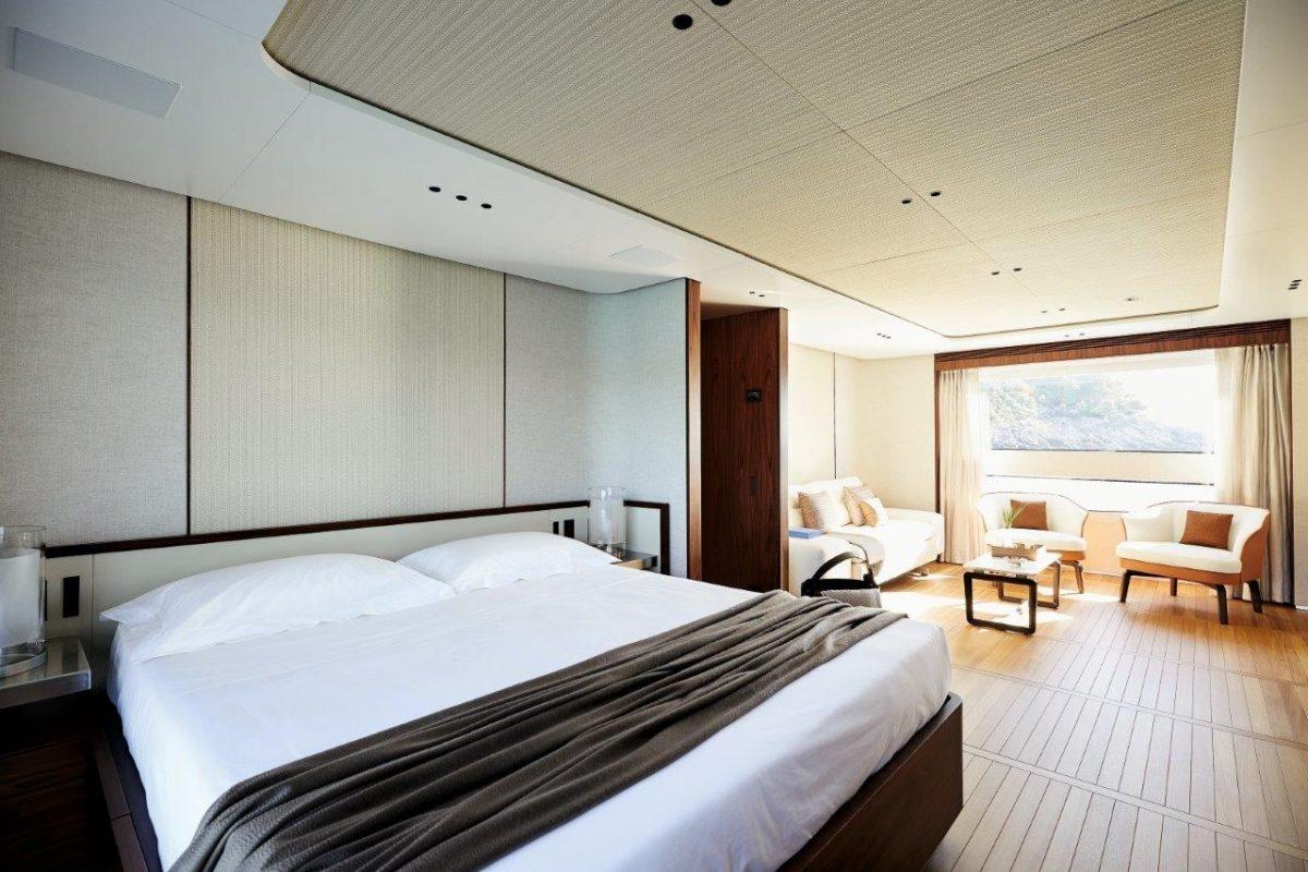 Benetti 40m Deck Bedroom View