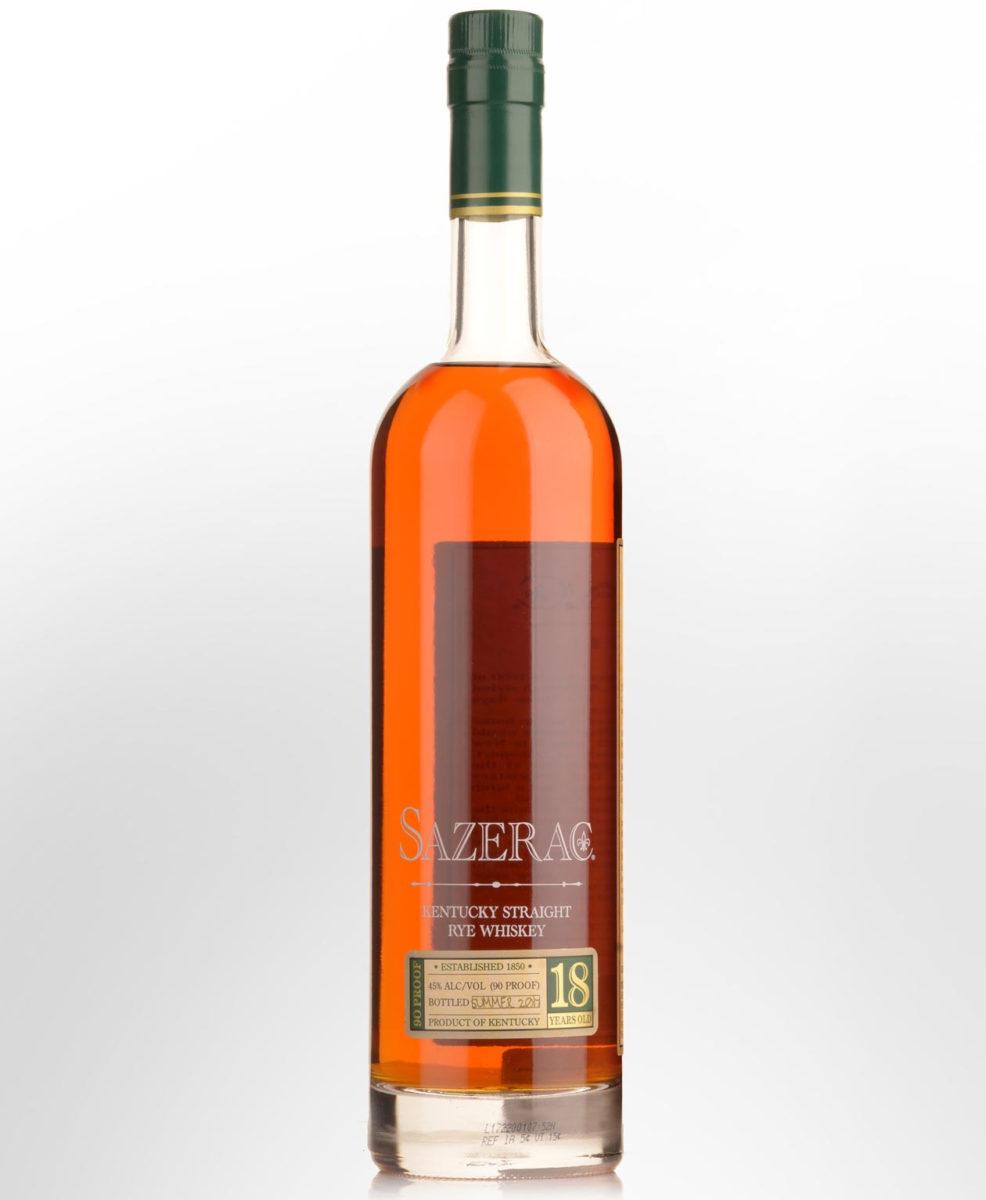 2017 sazerac 18yo rye whiskey