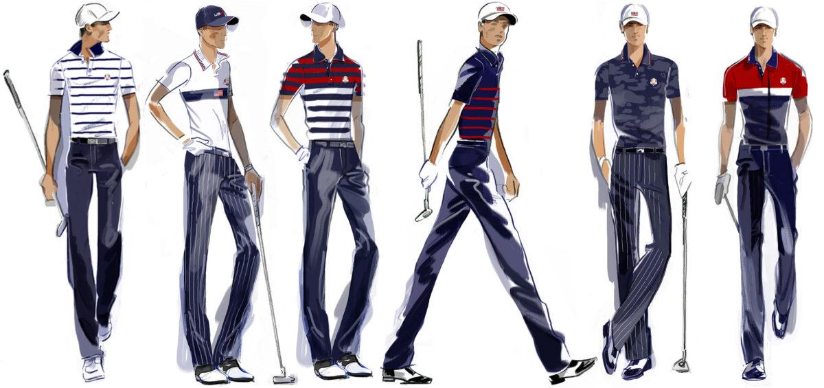 2022 Ryder Cup Uniform lineup sketch1