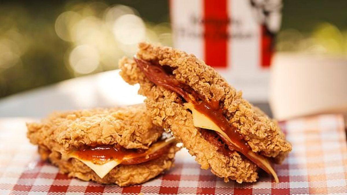 KFC PIZZA DOUBLE AUSTRALIA