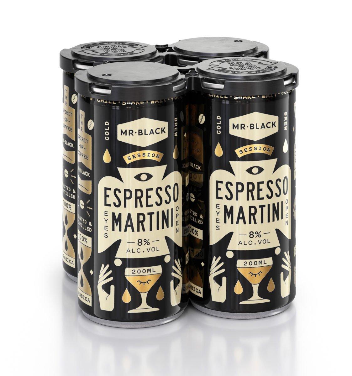 MR Black Espresso Martini Can 4-Pack