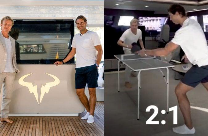 Rafael Nadal Nico Rosberg Ping Pong Monaco Yacht Show Sunreef