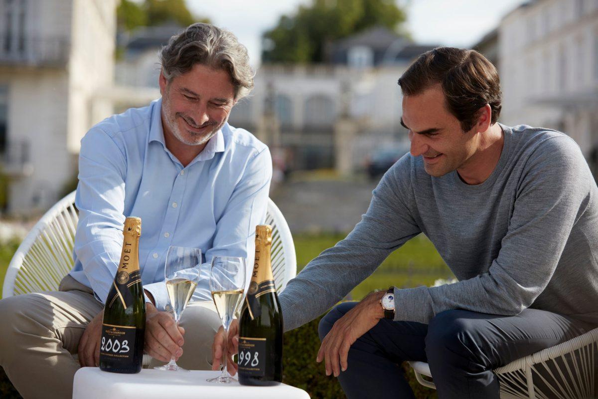 Roger Federer Moet Tasting