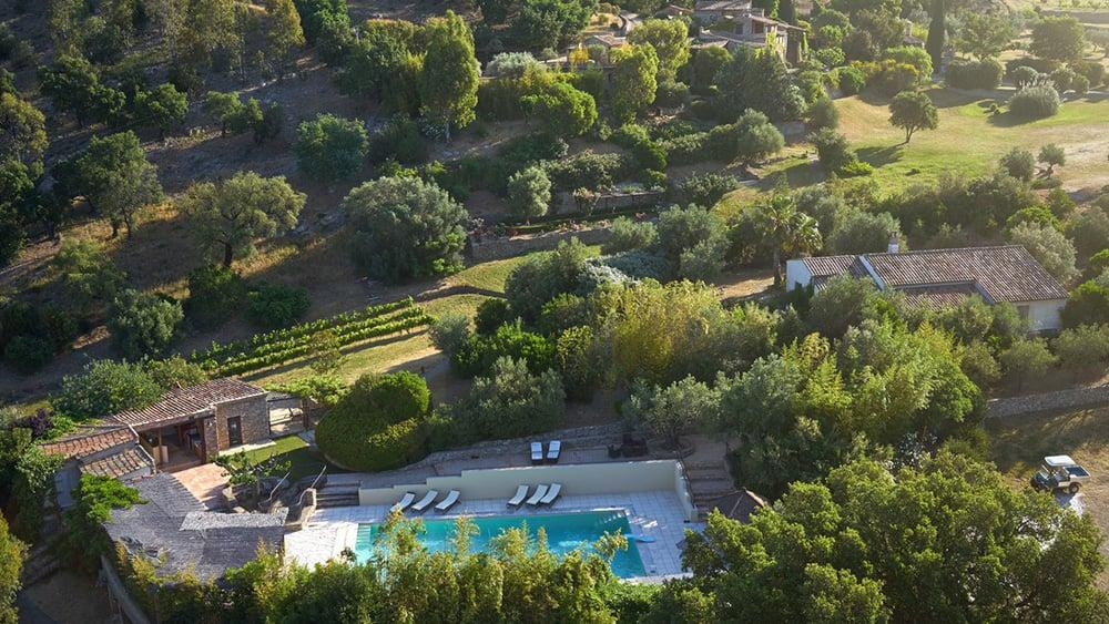 A bird's eye view of Johnny Depp's French village